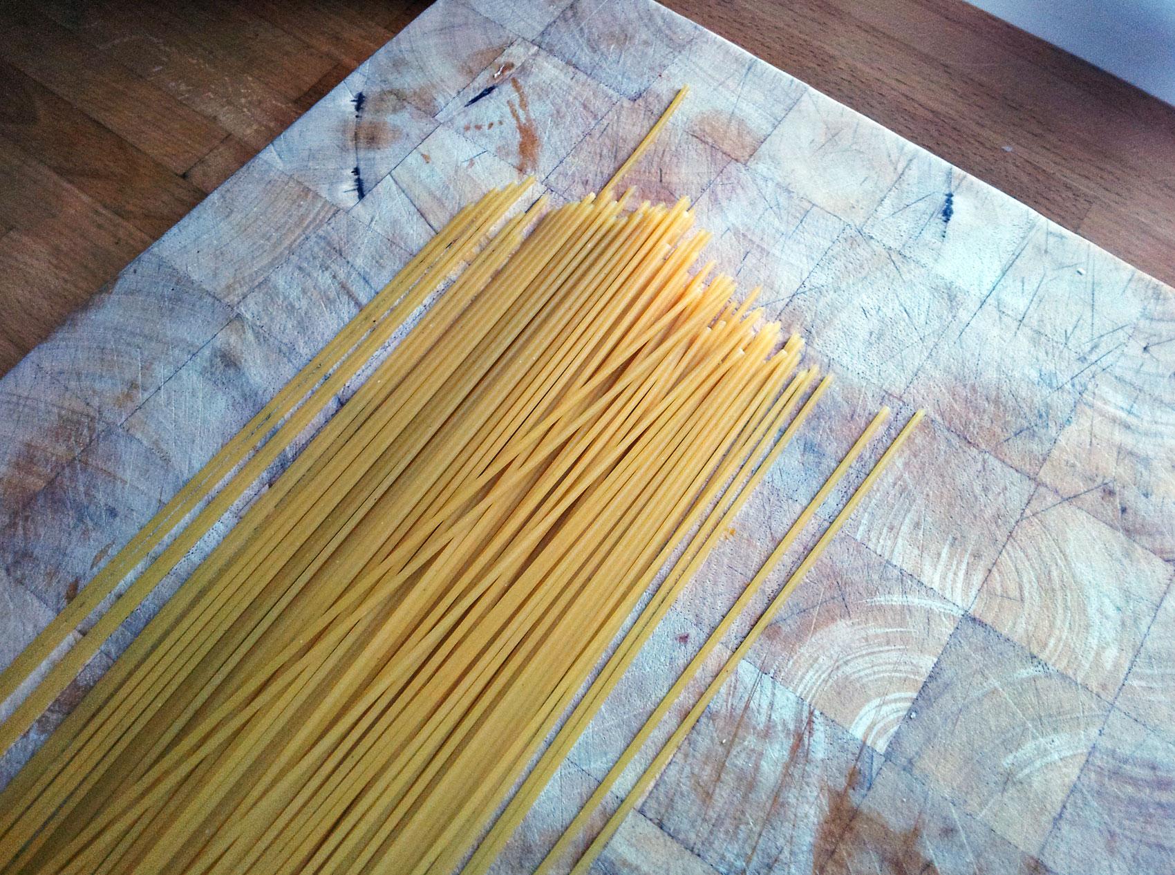 Spaghetti with Mackerel