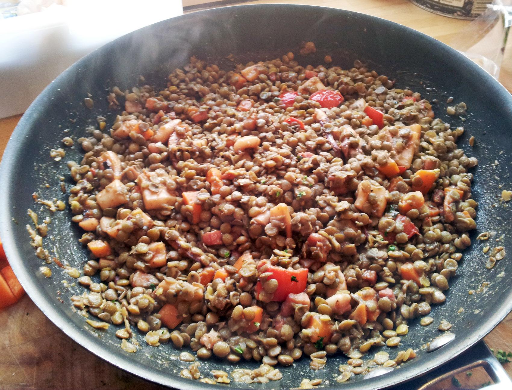 lentils & cod by pau ros