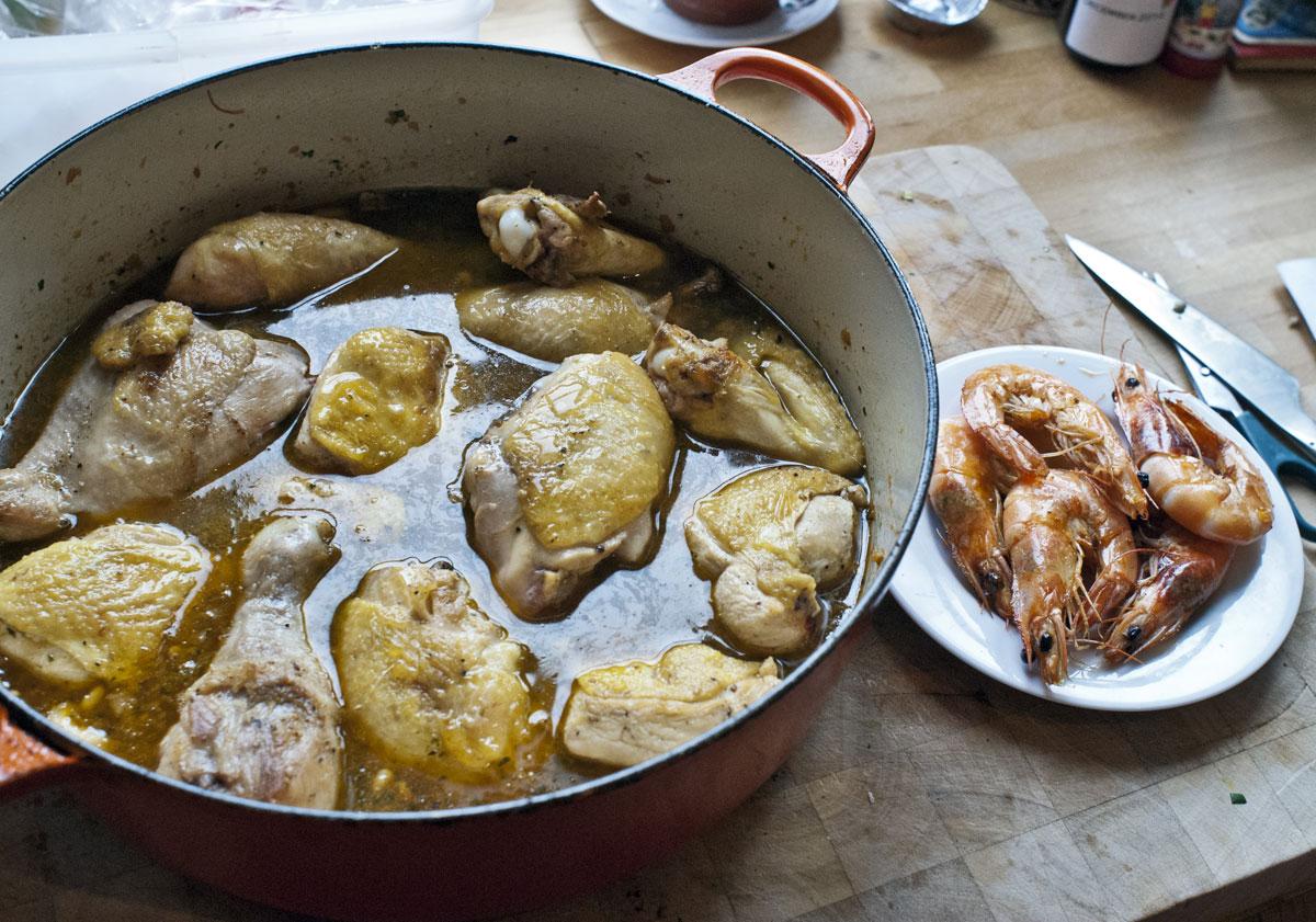 Chicken and Prawn Casserole