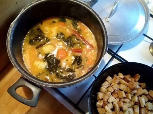 Red Chard & Cauliflower Soup